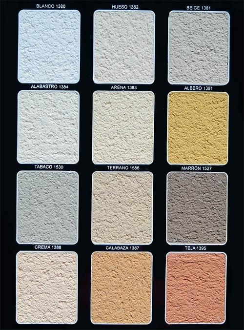Carta de colores argos derivados del cemento - Mortero monocapa colores ...